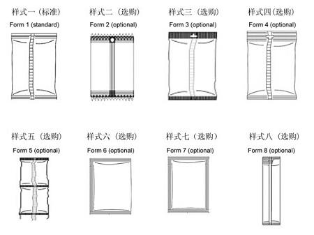 全自动粉剂包装机可以实现的包装形式